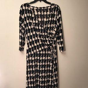 Women's 3/4 sleeve mid length wrap dress sz XL